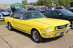 Ford Mustang (R.K.C. Photography) Tags: fordmustang classic american musclecar car iwm duxford duxfordspringcarshow2017 cambridgeshire england unitedkingdom uk canoneos100d yellow drs350d 1966 sunnyyellow smileonsaturday