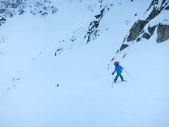 Catrin skis Ruby Bowl (Ruth and Dave) Tags: catrin child girl skier whistler whistlerblackcomb blackomb mountain blackcombmountain spankysladder rubybowl offpiste steep skiresort skiing slope