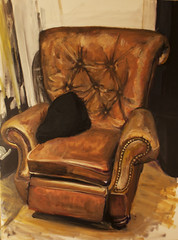 "Renaissance Throne 36""x48"" (G.Cooperart) Tags: chicago art painting chair acrylic fine comfort renaissance throne gcooper mrgcoopercom"