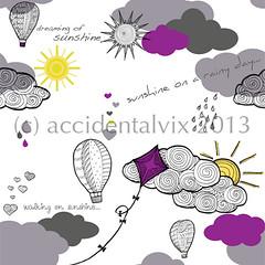 Sunshine pattern (accidentalvix.uk) Tags: illustration design competition tigerprint patterndesign surfacepattern