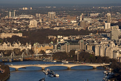 Waterloo Bridge from Tower 42 (JB Raw Images) Tags: city uk morning bridge light england urban london beautiful thames river dawn europe view capital waterloo jbraw