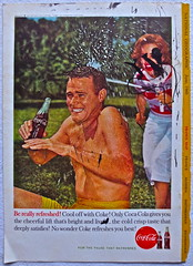 Defaced 1960s Vintage Coca Cola Advertisement From National Geographic Back Page 8 (Christian Montone) Tags: vintage ads advertising coke americana soda cocacola advertisements sodapop vintageads vintageadvert