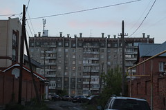 apartment building (Tigerpavel) Tags: street house evening