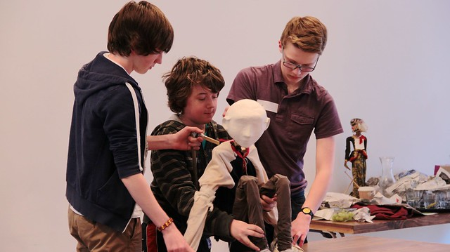 LiveWire Creative Careers Week - Theatre Puppet Making 8
