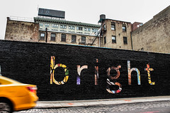 Bright (flodmusic) Tags: street nyc usa newyork brooklyn canon colorful bright taxi dumbo