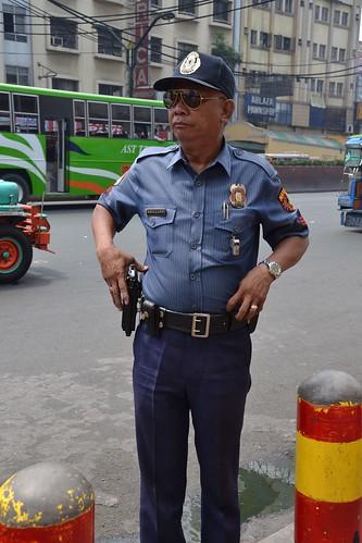 Friendly Manila policeman by shankar s., on Flickr