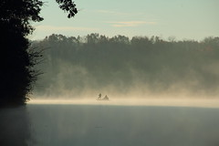 Fishing In The Mist 4 (whitewolf4665) Tags: people mist nature water fog sunrise boats outdoors landscapes fishing lakes rivers streams