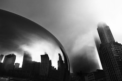 Clouds, Cloudgate (rjseg1) Tags: park urban sculpture chicago art millennium cloudgate kapoor