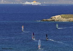 surfers' world (Steve Androu) Tags: blue hellas greekislands paros thalassa