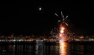 Noche de fuegos en A Coruña...