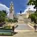 La piazzetta del Parque de Idalgo con l'Iglesia de Jesus