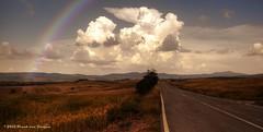 Tuscan winding roads 2013 (Fr@nk ) Tags: img9988 rainbow clouds road windingroad toscana tuscany italia italy summer roadmovie 2013 tt canon 5dmkii ef24105isl europe europa topf25 topf50 topf100 topf200 nextime krumpaaf mrtungsten62 interesting interestingness frnk