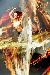 Firebird/Metamorphosis (crescentsi) Tags: red ballet orange woman motion color colour bird phoenix girl beauty yellow jaune pose rouge flow fire donna dance movement mujer rojo model pretty chica transformation dynamic theatre femme flames digitalart danse linda tanz bonita belle firebird jolie bella drama hermosa oiseau metamorphosis shapeshift beaute danca coleur simonharris