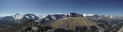 Columbia Icefields Panorama (*Andrea B) Tags: park summer mountain mountains river hiking pass peak august columbia hike glacier ridge mount wilcox tangle nigel icefields scramble athabasca columbiaicefields icefield scrambling columbiaicefield icefieldsparkway nigelpeak wilcoxpass 2013 wilcoxpeak mountathabasca tangleridge august2013 summer2013