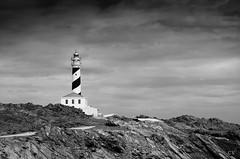 Faro (c.veizhans) Tags: summer faro 50mm blackwhite spain cloudy leuchtturm wolkig d7000