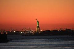 Statue Of Liberty (rnike) Tags: nyc sunset usa newyork statueofliberty