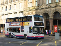 First 32299 (LK03NGY) - 28-09-13 (peter_b2008) Tags: buses scotland volvo edinburgh president coaches plaxton firstgroup b7tl buspictures treansport 32299 lk03ngy