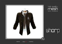 sharp by [ZD] - Mesh Open Pea Coat w. Shirt & Scarf (shine & sharp by [ZD]) Tags: life urban brown white man black male men wool lines fashion shirt by scarf demo grey cool shine dress place mesh market coat gray sharp sl jacket dresses second bone mann marketplace mp braun pea mode schwarz herring mnner jacke mantel houndstoothe peacoat kleidung menswear wolle kleid hemd schal weis mnnlich zd inworld fischgrtmuster fischgrtenmuster zddesign