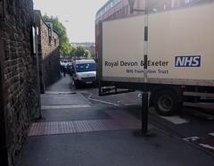 Cyclist's Eye View Of Lower Maudlin Street in Bristol 03 (samsaundersleeds) Tags: bristol traffic lorry pedestrians ambulances hospitals onewaystreet cyclelane wheelchiar lowermaudlinstreet