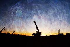 (Le.Sanchez) Tags: blue sunset arizona color texture colors digital america photomanipulation photoshop drive nikon time tucson bokeh textures montage layer layers textured texturized