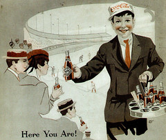 1915 COCA-COLA AD DETAIL - AT THE BALL GAME - THE DELINEATOR MAGAZINE (roitberg) Tags: detail advertising marketing cola ad cocacola 1915 coca vintagead