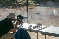 Tom B Firing 82A1 50 Cal Sniper Rifle (stevebfotos) Tags: chihuahua mexico gun bureau rifle sniper range barrett firearm ata isde 82a1 policiaestatalchihuahua