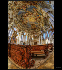 Wieskirche (Kemoauc) Tags: world heritage church bench bayern bavaria nikon ceiling unesco fresco hdr jrg topaz fresko wies wieskirche photomatix d300s kemoauc sentko