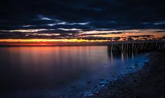 Day is dawning... (StillBelieven) Tags: longexposure light sea sky beach nature sunrise nikon 18105mm seasunclouds nikon18105mm d5100