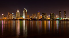 San Diego (mojo2u) Tags: california city skyline night lights bay harbor sandiego sandiegoskyline nikon2470mm nikond800