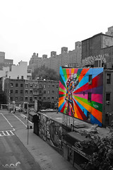 Color. wait, no, colour, or is it color? (R.Ness Photography) Tags: new york city nyc blackandwhite white holiday black color colour art love graffiti cityscape district highline meatpacking