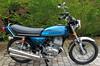 1973 Kawasaki S3 400cc Pearl Candytone Blue US model (Mike Jenner) Tags: s3 triple kawasaki 2stroke 400cc peugeotpilot