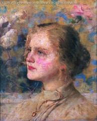 Eugenio Prati Pia Prati 1906 olio su tela 45 x 38 cm Collezione privata