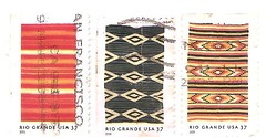 USA stamp: Rio Grande blankets (sftrajan) Tags: usa folkart unitedstates stamps stamp americana textiles timbre weaving postagestamp philately sello postagestamps briefmarke  francobollo sellopostal    riograndeblankets  phhilately
