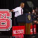 President Obama spoke to a packed house at NC State.