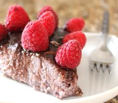 Raw Chocolate Raspberry Pie (Vegan Feast Catering) Tags: love vegan raw coconut chocolate raspberry cashews pecans coconutoil agavevanilla