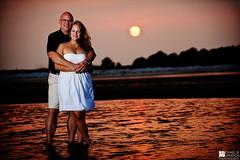 Lauren & Ray | Engagement (Michael B. Johnston) Tags: moon beach water lens engagement nikon couple gulf florida wizard tide flash low fl pocket sands 70200mm strobist mashes d700 sb900