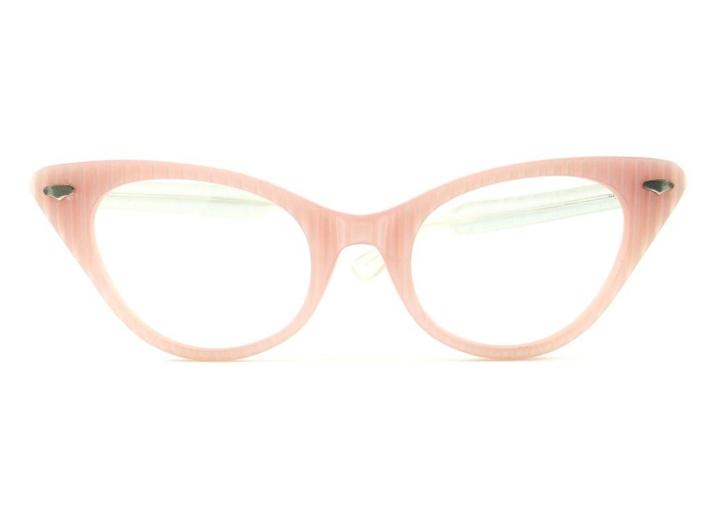 d676b2d93ce Vintage Cat Eye Glasses White Stripe Eyeglasses Sunglasses New Frame (Vintage  Eyeglasses) Tags