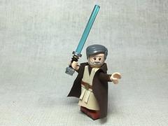Moc Ben Kenobi (Jedi Master) (LMA Customs) Tags: lego star wars jedi obi wan light saber minifigs custom