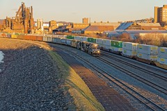 Winter Sunset in Bethlehem Pa (HDR's Photos) Tags: bethlehempa freighttrain norfolksouthernrailroad ns nsdiesellocmotive sunset