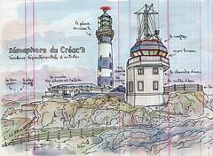 le sémaphore du créac'h (lapin barcelona) Tags: sketchbook illustration croquis bzh urbansketchers