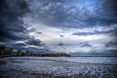 Mi Ira (My Anger) (Dibus y Deabus) Tags: gijon asturias españa spain cielo sky nubes clouds playa beach ciudad city playadesanlorenzo canon 6d tamron hdr