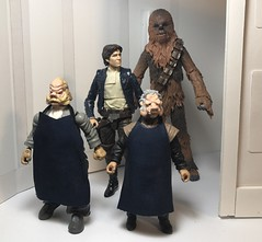 Here's a look at the custom SWBS Ugnaughts with Han and Chewie for scale. (chevy2who) Tags: customugnaughts ugnaughts customstarwars customblackseries inch six figure action toy series black blackseries custom wars star