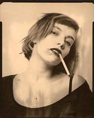 Charlotte (Mikah_Manansala) Tags: analogue film filmforever ilovefilm sheetfilm ishootfilm large format 4x5 alternate process direct positive graflexsuperspeedgraphic portrait studio