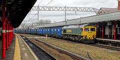 It's A Load Of Rubbish (whosoever2) Tags: freightliner class66 66602 6f33 stockport england unitedkingdom uk gb greatbritain march 2017 railway railroad train sony dsc rx100m3 garbage rubbish station