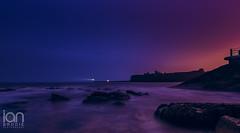 Tynemouth Priory (ianbrodie1) Tags: tynemouth pier priory lighthouse water longexposure sea wall seascape rocks fence lights sillouette coast coastline