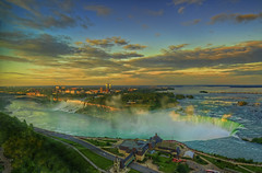 Niagara Falls sunset (cmfgu) Tags: niagarafalls ontario canada waterfall towerhotel niagarariver hdr highdynamicrange sunset sunrise dawn dusk twilight colorful clouds sky bluehour goldenhour niagaragorge americanfalls canadianfalls horseshoefalls goatisland bridalveilfalls rainbowbridge newyork craigfildesfineartamericacom art wall canvasprint framedprint acrylicprint metalprint woodprint greetingcard throwpillow duvetcover totebag showercurtain phonecase sale sell buy purchase gift craigfildes artist photographer photograph photo picture prints