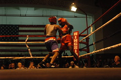 Antwon Gibbs (red), IBG, v Justin Mathis, American Top Team (hoosierchild) Tags: boxing indianagoldengloves antwongibbs ibg justinmathis americantopteam