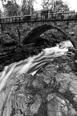 Linn O' Dee (PeskyMesky) Tags: linnodee waterfall water bridge braemar landscape le longexposure monochrome bw blackandwhite