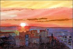 Granada 2 (Dr Graham Beards) Tags: granada alhambra andalucia sunset spain watercolor watercolour