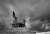 """""""Into the Cloud"""" (fab's_photos) Tags: approvato cloud nuvole cavalli horses statua italia italu roma rome nikond4 nikon247028 militeignoto altaredellapatria"""